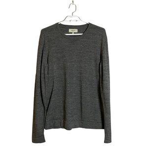 Frank & Oak Men's Gray Crewneck Sweatshirt